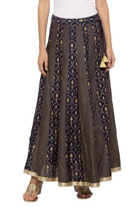 HAUTE CURRYWomens Printed Long Skirt