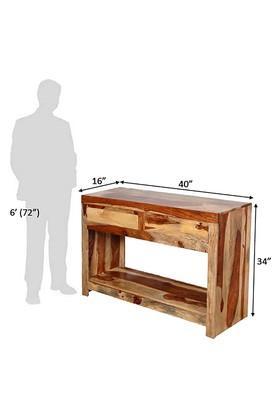 Brown Lea Console Table