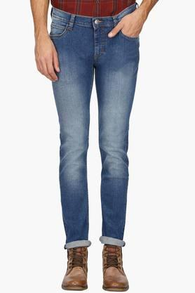LEE Mens Skinny Fit Heavy Wash Jeans (Lowbruce Fit)