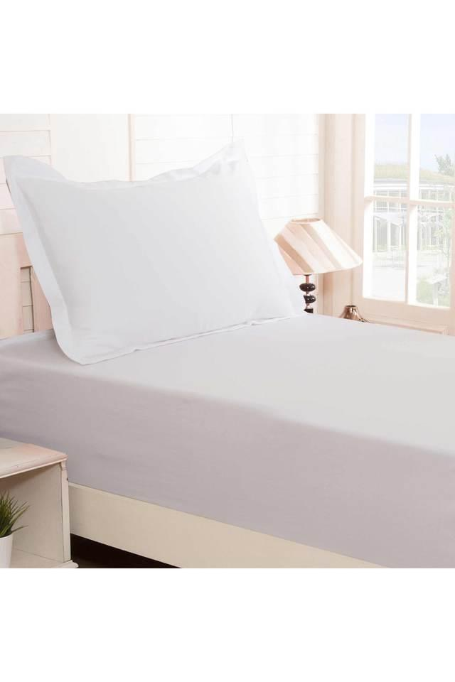 Colorart Cotton Satin Solid Single Bedsheet with 1 Pillow Cover