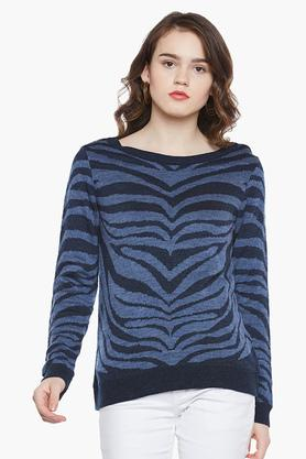 LATIN QUARTERS Womens Round Neck Printed Sweater - 203290708