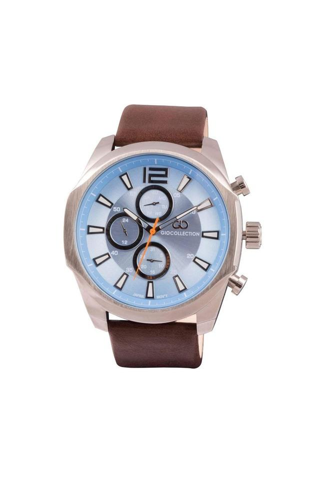 Mens Blue Dial Multi-Function Watch