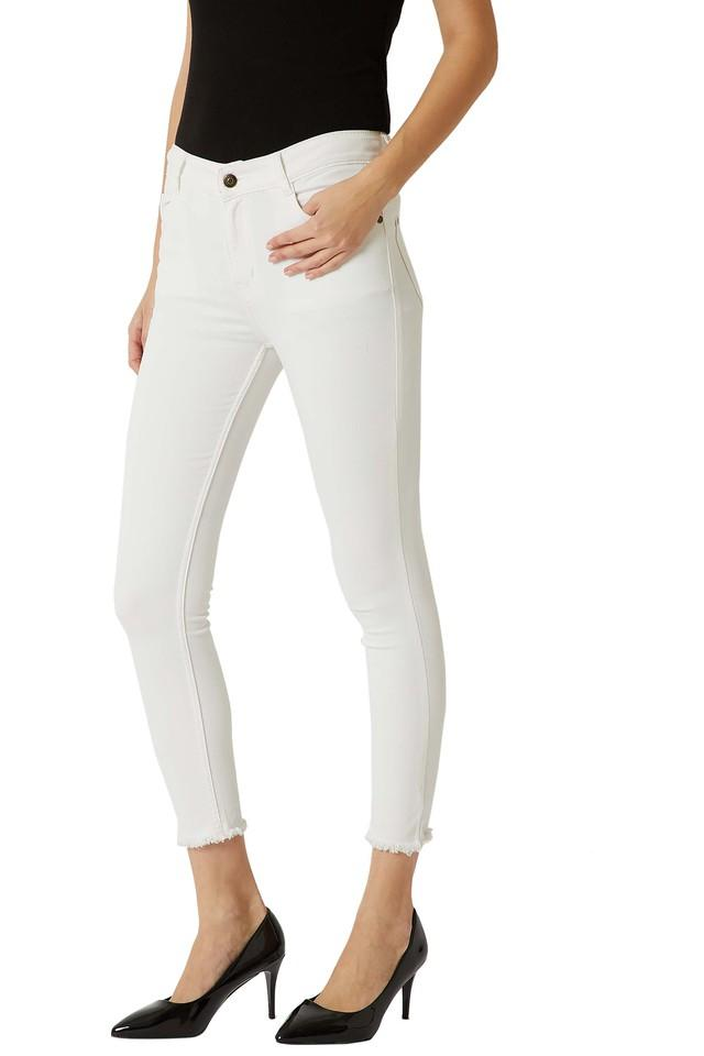 Womens Skinny Fit Coated Denim Jeans
