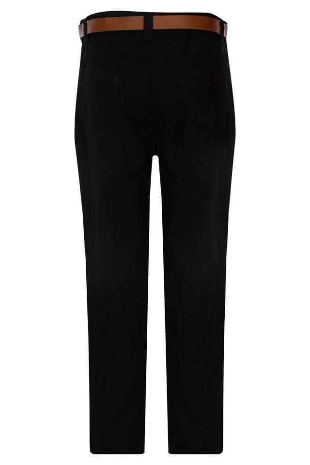 Boys 4 Pocket Solid Pants