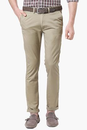 PETER ENGLANDMens Extra Slim Fit 5 Pocket Solid Chinos - 202966177