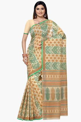 DEMARCA Womens Cotton Blend Printed Saree - 203229461