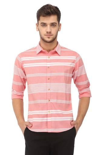 Mens Regular Fit Striped Casual Shirt