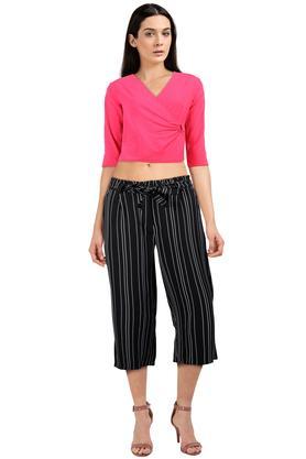 Womens 2 Pocket Stripe Culottes