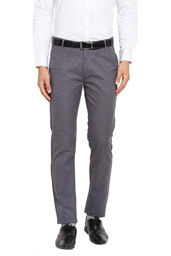 Mens Slim Fit 4 Pockets Slub Chinos