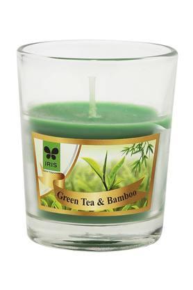 IRISRound Glass Green Tea And Bamboo Candle