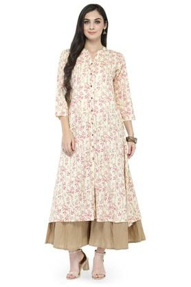 VARANGA Women Floral Print Kurta And Palazzo Set - 204517202_9100