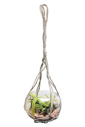Hanging Potted Plant with Jute Rope