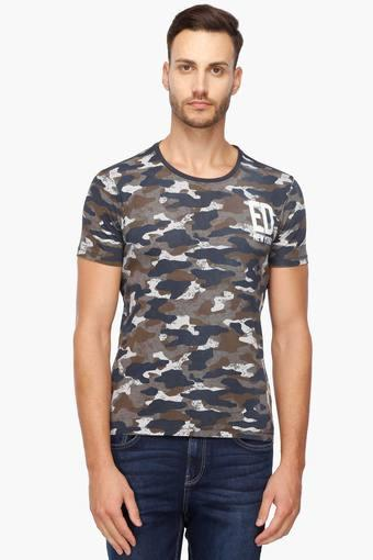 9f8bbfdced5 Buy ED HARDY Mens Slim Fit Camouflage T-Shirt