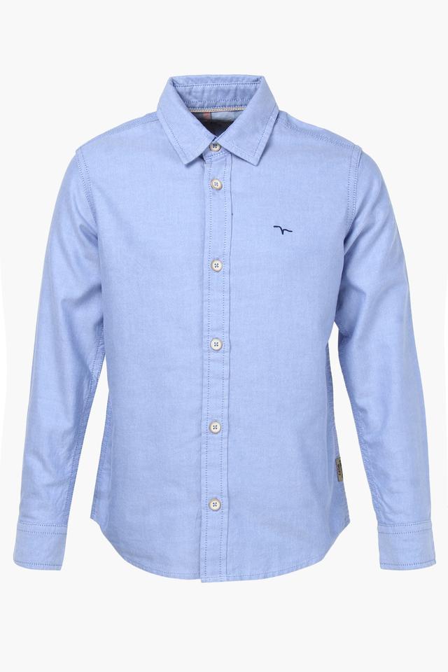 Boys Collared Slub Shirt