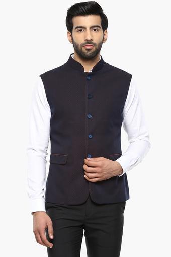 Mens Mao Collar Printed Waistcoat