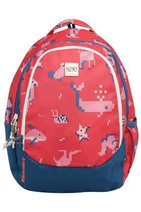Unisex Zip Closure Printed School Bag