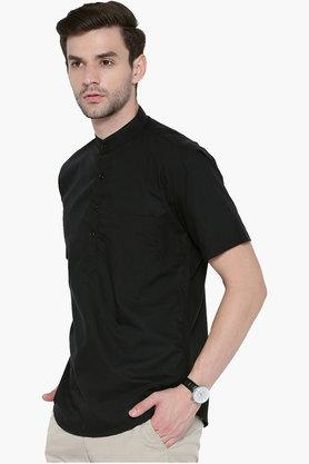 Mens Slim Fit Solid Shirt