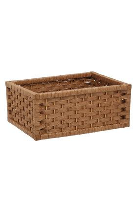 BACK TO EARTH Square Vandyke Woven Basket