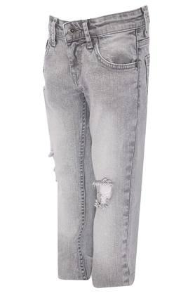 Boys 5 Pocket Distressed Jeans