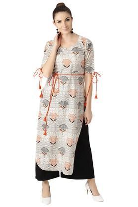 Womens Cotton Printed Pathani Kurta