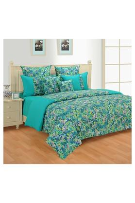 SWAYAMFloral Printed Double Bed Quilt