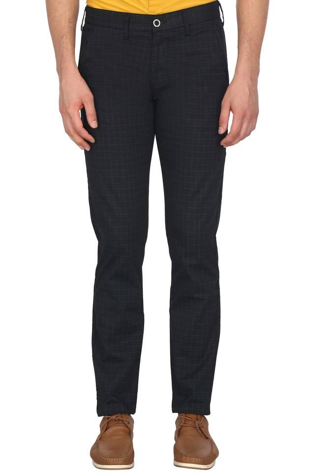Mens 4 Pocket Checked Trousers
