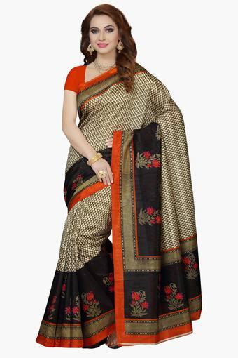 Womens Bhagalpuri Silk Printed Saree