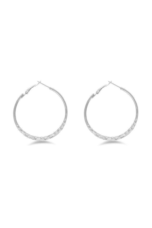 Womens Textured Hoop Earrings