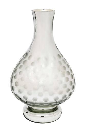 Curved Printed Silver Alhoora Vase - 30.5cms