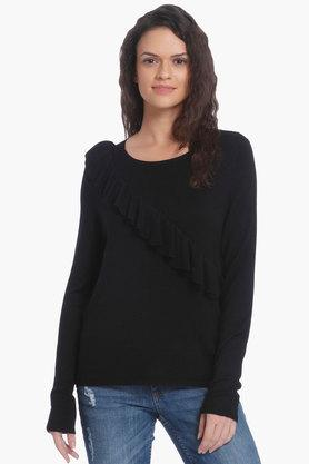 ONLY Womens Round Neck Solid Pullover - 202995507_8688