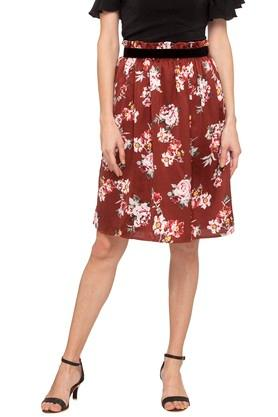 COVER STORYWomens Floral Print Casual Skirt
