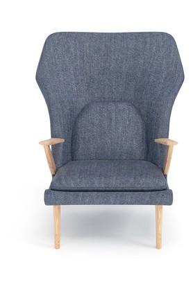 Grey Club lounge Chair