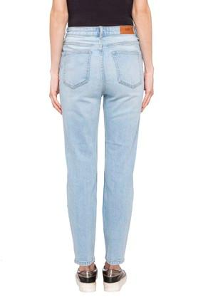 Womens 5 Pocket Heavy Wash Jeans (Mom Fit)
