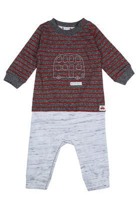 Kids Round Neck Striped Babysuit