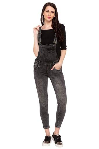 DEAL JEANS -  Black Mix Palazzos & Jumpsuits - Main