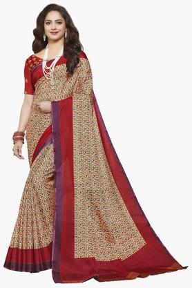 ISHINWomens Bangalori Mysore Art Silk Printed Saree