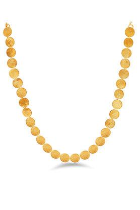 Womens Gold Plated Coin Necklace