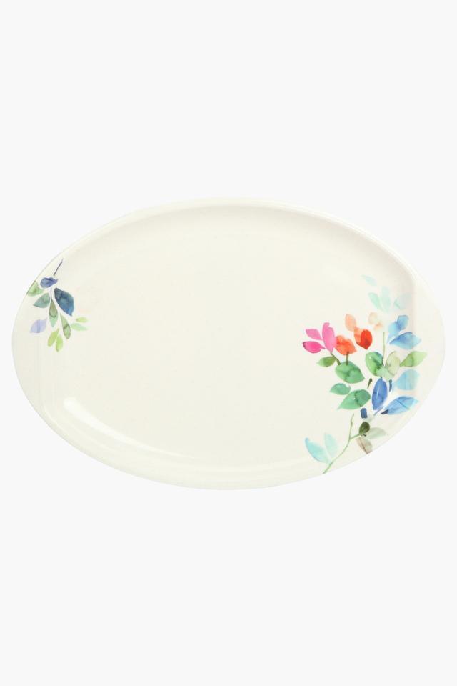 Floral Print Oval Platter