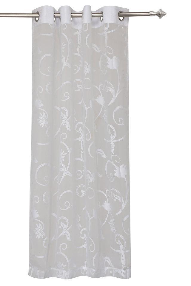 Lydia Sheer Self Printed Door Curtain