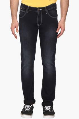 LEEMens 5 Pocket Skinny Fit Mild Wash Jeans (Lowbruce Fit)