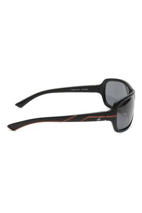 Mens Wrap Round UV Protected Sunglasses - NBP321BK2P