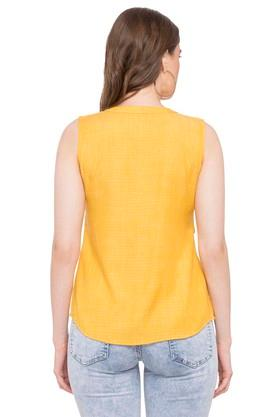 Womens V Neck Embroidered Shirt