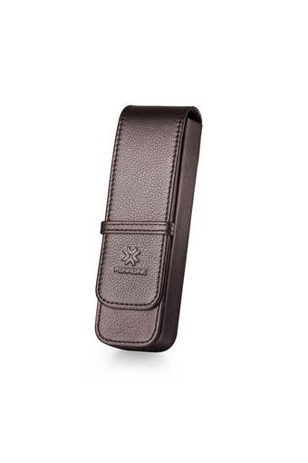 Leather Long Flap Closure Single Pen Case