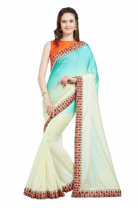Womens Printed Saree With Blouse