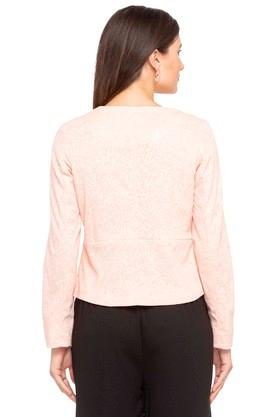 Womens Round Neck Slub Jacket