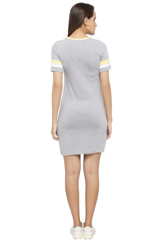 Womens Round Neck Slub T-Shirt Dress