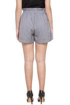 Womens 2 Pocket Striped Shorts