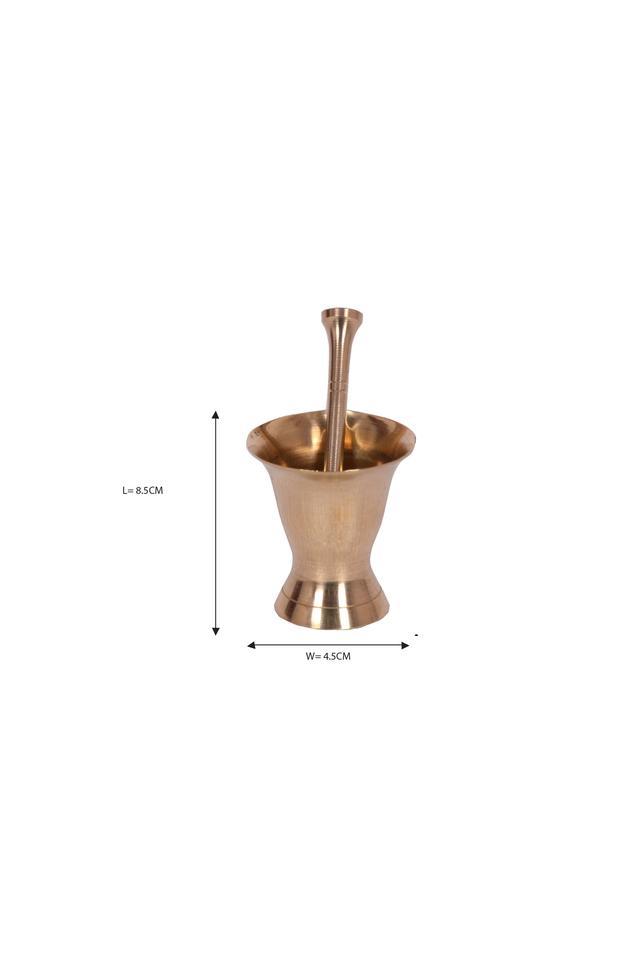 Brass Mortar & Pestle/ Khalbatta Pretend Play Set