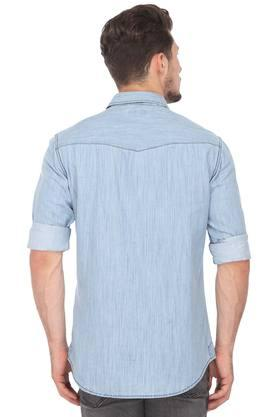 Mens Regular Fit Washed Casual Shirt