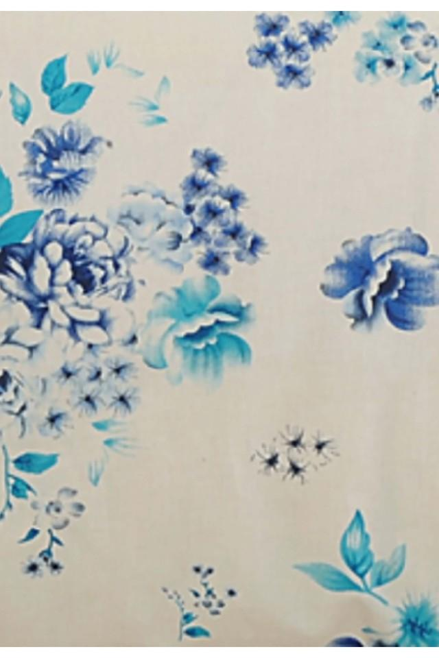 Blue and White Floral Double AC Comfortor